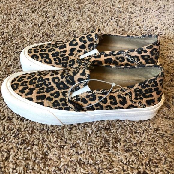 Vans Slip On SF Hemp Leopard Print Shoes Size 8 15f6935ae